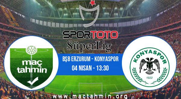 Bşb Erzurum - Konyaspor İddaa Analizi ve Tahmini 04 Nisan 2021