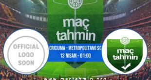 Criciuma - Metropolitano SC İddaa Analizi ve Tahmini 13 Nisan 2021