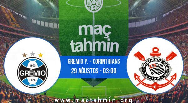 Gremio P. - Corinthians İddaa Analizi ve Tahmini 29 Ağustos 2021