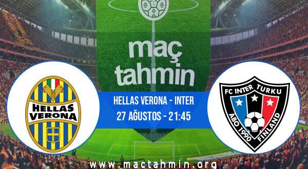 Hellas Verona - Inter İddaa Analizi ve Tahmini 27 Ağustos 2021