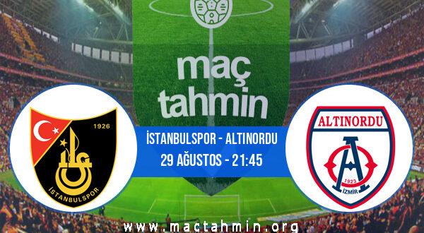 İstanbulspor - Altınordu İddaa Analizi ve Tahmini 29 Ağustos 2021
