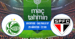 Juventude - Sao Paulo SP İddaa Analizi ve Tahmini 29 Ağustos 2021