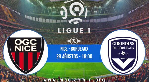 Nice - Bordeaux İddaa Analizi ve Tahmini 28 Ağustos 2021