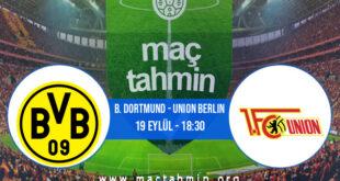 B. Dortmund - Union Berlin İddaa Analizi ve Tahmini 19 Eylül 2021