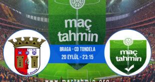 Braga - CD Tondela İddaa Analizi ve Tahmini 20 Eylül 2021