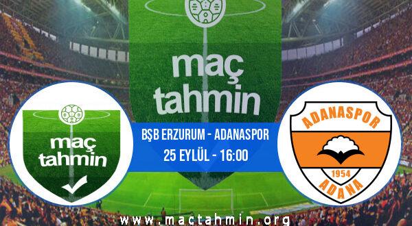 Bşb Erzurum - Adanaspor İddaa Analizi ve Tahmini 25 Eylül 2021