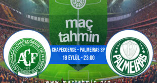 Chapecoense - Palmeiras SP İddaa Analizi ve Tahmini 18 Eylül 2021