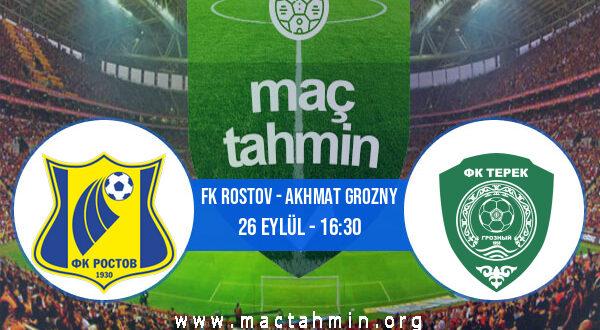 FK Rostov - Akhmat Grozny İddaa Analizi ve Tahmini 26 Eylül 2021