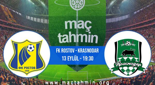 FK Rostov - Krasnodar İddaa Analizi ve Tahmini 13 Eylül 2021