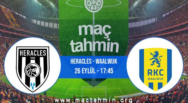 Heracles - Waalwijk İddaa Analizi ve Tahmini 26 Eylül 2021
