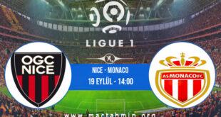 Nice - Monaco İddaa Analizi ve Tahmini 19 Eylül 2021