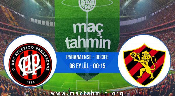 Paranaense - Recife İddaa Analizi ve Tahmini 06 Eylül 2021