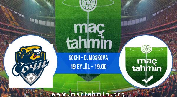 Sochi - D. Moskova İddaa Analizi ve Tahmini 19 Eylül 2021