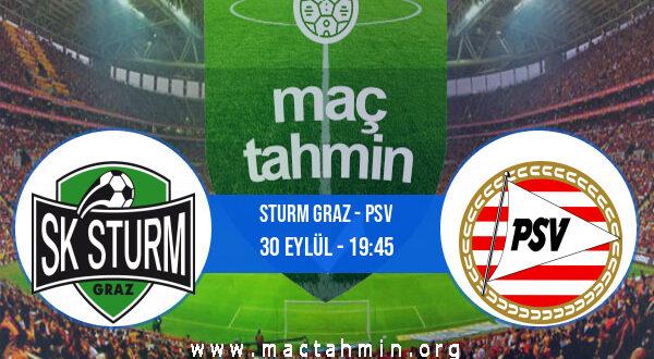 Sturm Graz - PSV İddaa Analizi ve Tahmini 30 Eylül 2021
