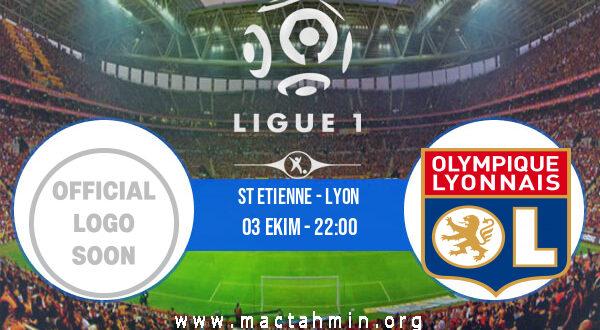 St Etienne - Lyon İddaa Analizi ve Tahmini 03 Ekim 2021