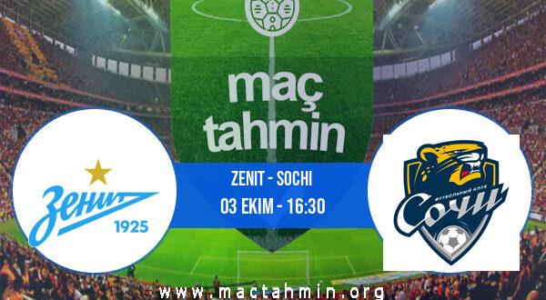 Zenit - Sochi İddaa Analizi ve Tahmini 03 Ekim 2021
